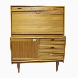 Teak Secretaire with Lighting, 1960s
