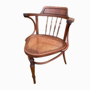 Antique Bentwood Desk Chair from Fischel, 1910s