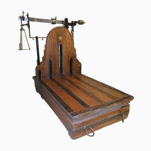 Libra Bank aus Eisen, Messing & Holz von Leonardo Bertani, Italien, 1800er
