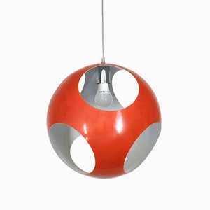 Space Age Red Ceiling Lamp, 1970s