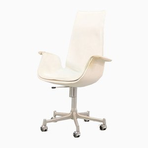 Mid-Century White Tulip Chair by Preben Fabricius & Jørgen Kastholm for Kill International