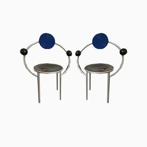 The First Chairs by Michele De Lucchi for Memphis, Set of 2
