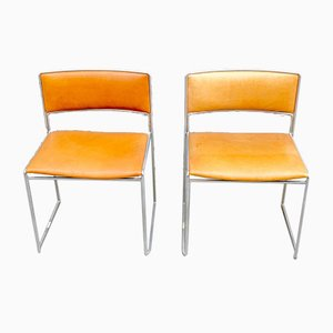 Mid-Century Dining Chairs by Preben Fabricius & Jørgen Kastholm for Kill International, Set of 2