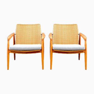 Mid-Century Lounge Chairs by Carl Straub for Goldfeder, Set of 2