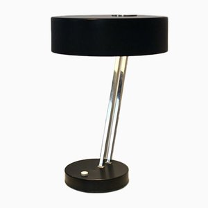 Adjustable Black and Chrome Table Lamp from Kaiser Idell, 1960s