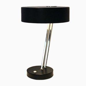 Lampada da tavolo regolabile nera e cromata di Kaiser Idell, anni '60