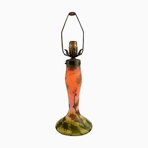 Große Jugendstil Tischlampe aus Glas von Legras