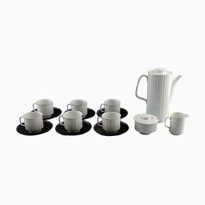 Kaffeeservice aus Porzellan in Schwarz von Tapio Wirkkala für Rosenthal