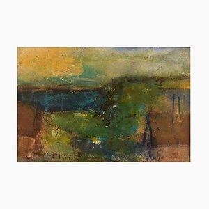 Poul K Jørgensen, Öl an Bord, Abstrakte Landschaft, 1978