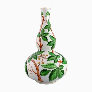 Double Gourd-Shaped Vase in Hand-Painted Porcelain from Herend, 1980s