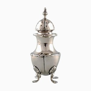 English Pepper Shaker in Silver, Late 19th-Century
