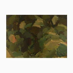 Huile sur Panneau, Paysage Abstrait Moderniste, 1960s