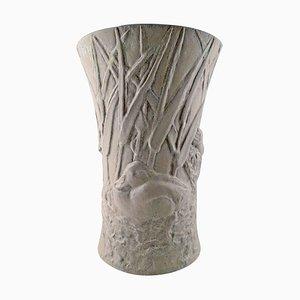 Stoneware Vase by Hugo Liisberg for Saxbo