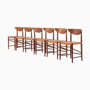 Danish Model 316 Dining Chairs by Peter Hvidt and Orla Mølgaard Nielsen, Set of 6