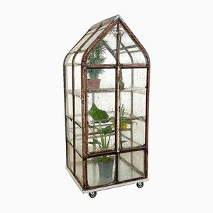 Small Antique Metal Greenhouse