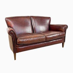 Vintage 2-Sitzer Sofa aus Schafsleder von Muylaert