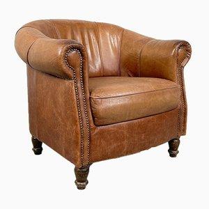 Vintage Sheep Leather Tub Club Chair