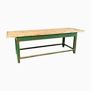 Tavolo vintage industriale in legno dipinto