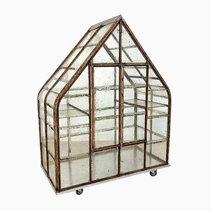 Large Antique Metal Greenhouse