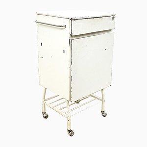 Vintage Industrial Metal Bedside Cabinet