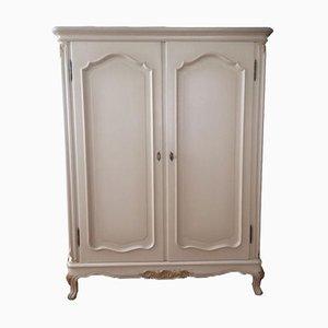 Weiße Vintage Garderobe aus Massivholz