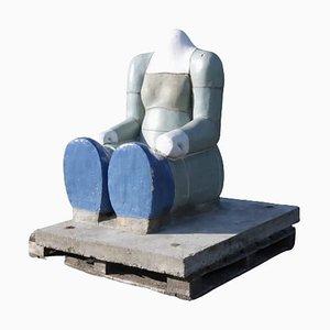 Sitting Figure Sculpture by Jan Snoeck, 1980s
