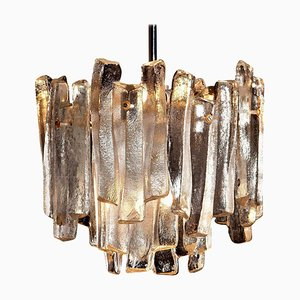 Chandelier with Frosted Glass Elements by J. T. Kalmar, 1970s