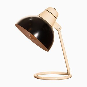 Metal Desk Lamp in Off-White and Black from Philips, 1950s