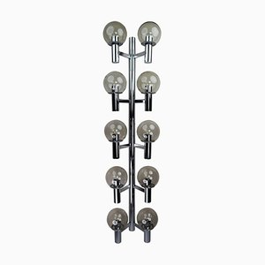 Large Chrome Wall Lights Sculptures, Italy, 1970s