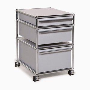 Metallgraue Rollschränke von USM Haller