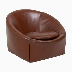 Brown Leather Capri Armchair by Gordon Guillaumier for Minotti, 2005
