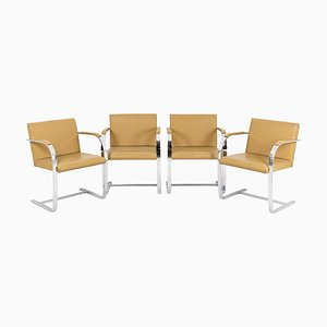 Brno Armchairs by Ludwig Mies Van Der Rohe, 1970, Set of 4