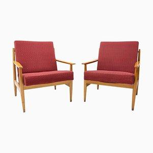 Mid-Century Armlehnstühle im skandinavischen Stil von Ton, 1970er, 2er Set
