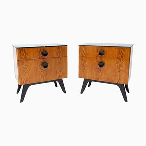 Nightstands by Jindřich Halabala for Úp Závody, 1950s, Set of 2