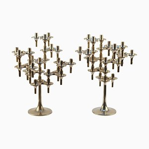 Modular Orion Candelabras by Fritz Nagel & Ceasar Stoffi for BMF, 1960s, Set of 2