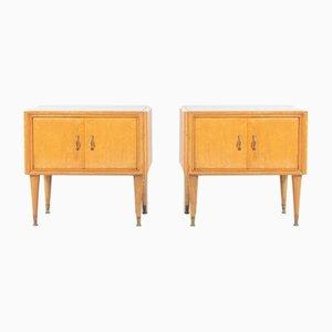 Mid-Century Modern Nightstands by Luigi Colombo, 1950s, Set of 2