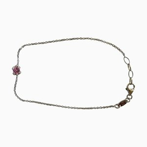 Garel 0.33CT Pink Sapphire and 0.055CT Diamond Paving Bracelet in 18K Rose Gold