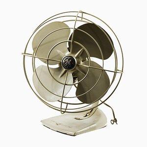 Ventilatore vintage in metallo elettrico, anni '60