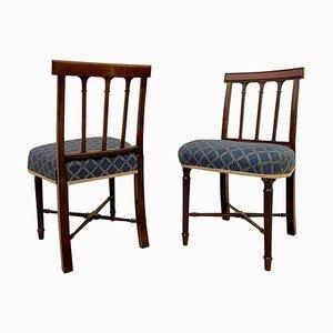 Beistellstühle aus Mahagoni, 19. Jh., 2er Set