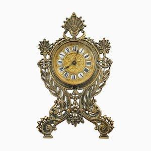 Verzierte Messing Tischuhr aus dem 19. Jahrhundert