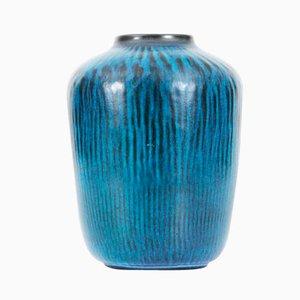 Vaso modello 5078 turchese di Gunnar Nylund per Nymolle, anni '50