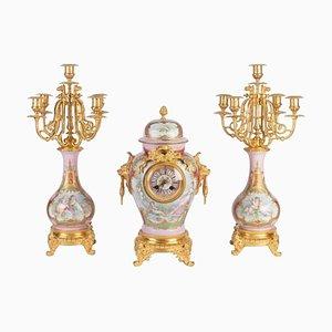 Kaminsims im Louis XVI Stil aus Bronze