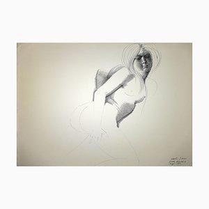Emilio Greco, Akt, China Tuschezeichnung, 1972