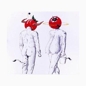 Emphi, Tomaten Milch, Acrylfarbe und Tinte, 2015