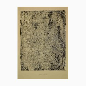 Jean Dubuffet, Text Speckled II, Lithograph, 1959