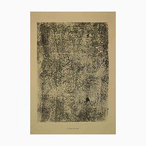 Jean Dubuffet, Text Gesprenkelt, Lithographie, 1959