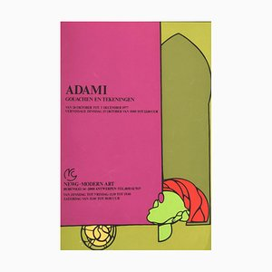 Valerio Adami, Valerio Adami Is A, Vintage Offset and Screen Print Poster, 1977