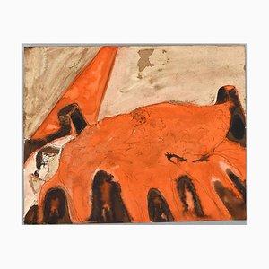 Jean Demelier, Figures Dans Une Salle de Concert, Encre et Aquarelle, 20ème Siècle