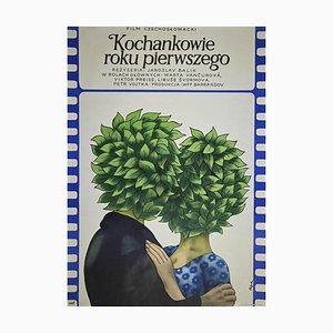 Jerzy Flisak, Mkochankowie First Year, Vintage Offset Poster by George Flisak, 1975