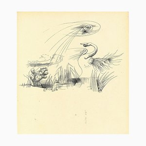 André Masson, Surrealist Composition 8, Collotype, Mid-20th Century